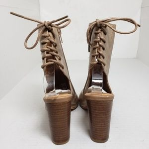 Jeffrey Campbell Shoes - Jeffrey Campbell Peep Toe Lace Up Booties Sz 6.5